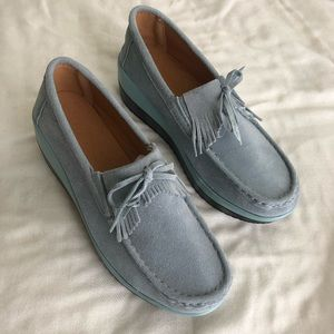 Shoes - NWOT, Baby blue slip on shoes!